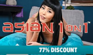 Best asian porn site discount to join Asian1on1 with a xxx discount